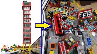 getlinkyoutube.com-Hilarious Lego train - skyscraper crash
