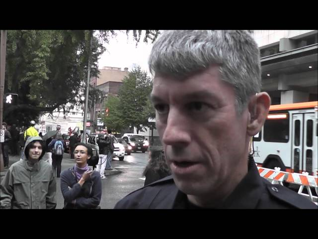 Occupy Portland... how the police should treat us.