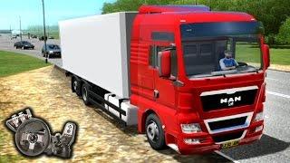 getlinkyoutube.com-City Car Driving 1.4.0 - MAN TGX - Mod de caminhão - Muito bom! - Com Logitech G27 - RaaVaz