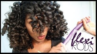 getlinkyoutube.com-How To Cheat A Flexi Rod Set | EASY Technique Heatless Curls - Naptural85 Natural Hair