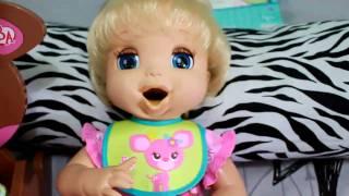 getlinkyoutube.com-Feeding my Real Surprises Baby Alive Alice Part 2♥ [HD]