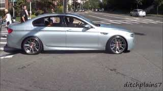 getlinkyoutube.com-Cars Leaving Glen Cove Gold Coast Concours/Bimmerstock, Exotic Car Show - EXHAUST SOUNDS!!!