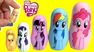 MY LITTLE PONY THE MOVIE FASH'EMS Mermaid Pinkie Pie MLP PLAY-DOH Stacking Cups width=