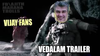 Vedalam Trailer Scared of Vijay fans (marana Kalaai)