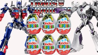 getlinkyoutube.com-Huevos Kinder Sorpresa de Transformers: Optimus Prime, Megatron.Transformers Surprise Eggs