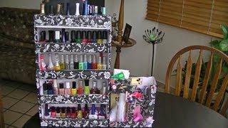 getlinkyoutube.com-como hacer un organizador  para esmaltes