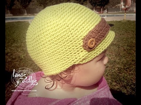 Tutorial Gorro Niño Crochet Baby Hat english Subtitles