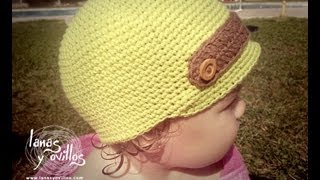 getlinkyoutube.com-Tutorial Gorro Niño Crochet o Ganchillo Baby Hat (English Subtitles)