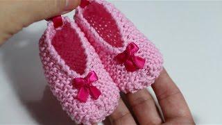 getlinkyoutube.com-DIY ! Tejer patucos de bebé con dos agujas I Baby Booties I cucaditasdesaluta