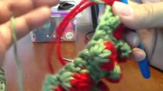 getlinkyoutube.com-Strawberry stitch in regular crochet-2