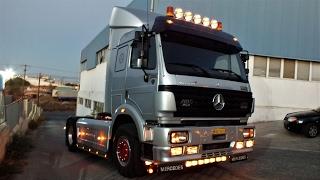 getlinkyoutube.com-Mercedes SK 1850 V8 with strong sound - Powered by Giotis Sakis
