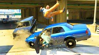 getlinkyoutube.com-GTA V Unbelievable Crashes/Falls - Episode 70