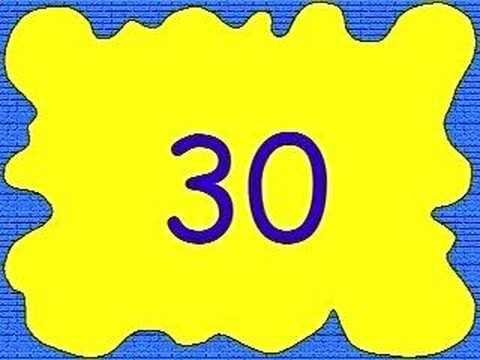 Numeros del 1 al 30 - Imagui