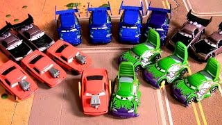 getlinkyoutube.com-Cars Tuners Complete Diecast Collection Mattel 1:55 Disney Cars with Flames Wingo Snot Rod Boost DJ