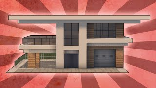 getlinkyoutube.com-Minecraft: How To Build A Modern House Tutorial w/ Pool & Garage! (#3)