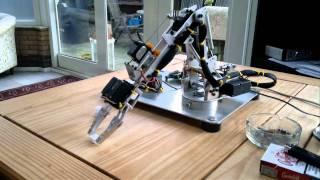 getlinkyoutube.com-Home Made Robot Servo Arm