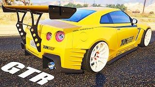 getlinkyoutube.com-Grand Theft Auto V Mods - Racing with 2015 Nissan GTR 2.0 - [GTA 5 Gameplay]