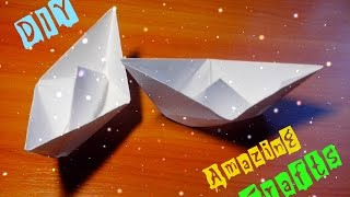 getlinkyoutube.com-DIY Easy Paper Ship. Origami Boat For Children and Beginners Step By Step Tutorial. Kids Craft