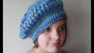 getlinkyoutube.com-CROCHET  How to #Crochet Puff Stitch Womens Beret Hat #TUTORIAL #244