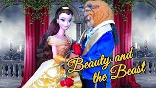 getlinkyoutube.com-BEAUTY AND THE BEAST Kid-Friendly Fairy Tale with Disney Princess and Barbie Dolls
