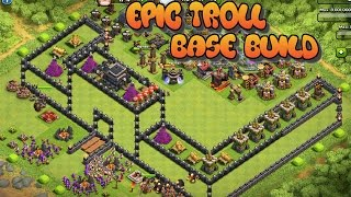 Clash of Clans 3D | EPIC TROLL BASE CASTLE BUILD | Funny trolling strategy