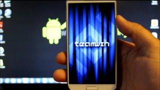 getlinkyoutube.com-Samsung Galaxy S4 Custom Recovery Super Easy install