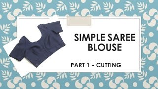 getlinkyoutube.com-How to make a simple Saree Blouse _ Marking and Cutting