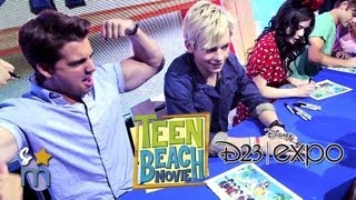 getlinkyoutube.com-TEEN BEACH MOVIE Cast Hangs at Disney D23 Expo - Ross Lynch, Grace Phipps