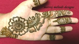 getlinkyoutube.com-easy simple mehndi henna designs for hands matroj mehndi designs