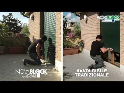 Novablock: Avvolgibile autobloccante in alluminio estruso