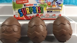 getlinkyoutube.com-Kinder Surprise Eggs & Homemade Chocolate Eggs Shopkins Minecraft Unboxing Opening