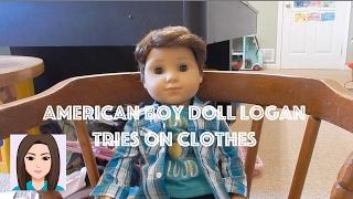 getlinkyoutube.com-American Boy Doll Logan Tries on Clothes