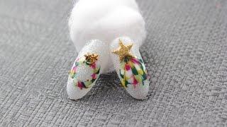 getlinkyoutube.com-[미대의 네일컬렉션]39화_크리스마스 트리와 니스 네일아트/Christmas Tree Nail Art/クリスマスツリーネイルアート