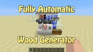 getlinkyoutube.com-Fully Automatic Wood Generator For Minecraft 1.5.1 (Tutorial)