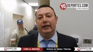 Antonio de Valdez ve dificil que los Cachorros ganen la Serie Mundial