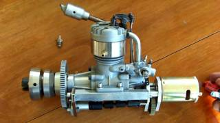 getlinkyoutube.com-4 stroke model engine  OS FS-60 rc marine + onboard  starter