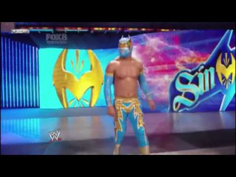 WWE Sin Cara attacks Jack Swagger on Smackdown (04-08-2011) HD