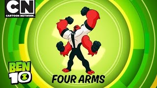 Ben 10 | Aliens in Action: FOUR ARMS! | Cartoon Network
