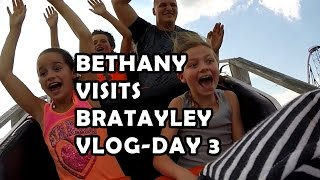 getlinkyoutube.com-Bethany Visits Bratayley - Vlog Day 3 | Roller Coasters & Bungee