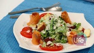 getlinkyoutube.com-Life樂生活 美味沙拉自已做--燻鮭魚凱薩沙拉