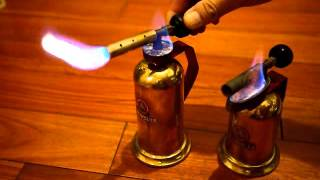 getlinkyoutube.com-Lenk Manufacturing Company Brass Gasoline/Alcohol Blowtorch (1920')
