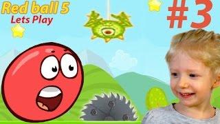 getlinkyoutube.com-Продолжение игры Red ball 5 Часть #3. Красный шар против зеленых паучков