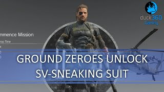 getlinkyoutube.com-Ground Zeroes SV Sneaking Suit Save Unlock - Metal Gear Solid V: The Phantom Pain