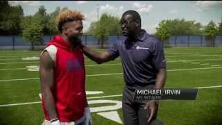 Odell Beckham one-on-one with Michael Irvin