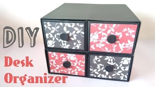 DIY Desk Organizer | Drawers | By Srushti Patil