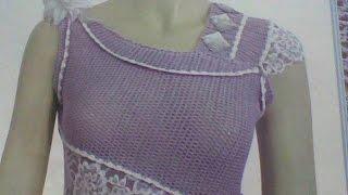 getlinkyoutube.com-Patrons des robe maison au crochetباترونات  فساتين منزل