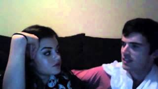 getlinkyoutube.com-Lucy Hale & Ian Harding Ustream funny moments