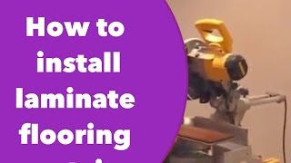 getlinkyoutube.com-How to install laminate flooring on stairs.