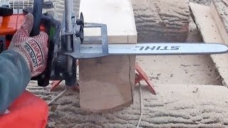 getlinkyoutube.com-Logosol Timberjig Review 3 - Chainsaw Milling Day