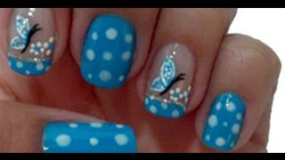getlinkyoutube.com-Unhas de Borboleta Manual Bela e Simples Nail Art